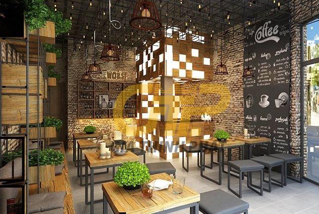 Xưởng sản xuất nội thất quán cafe