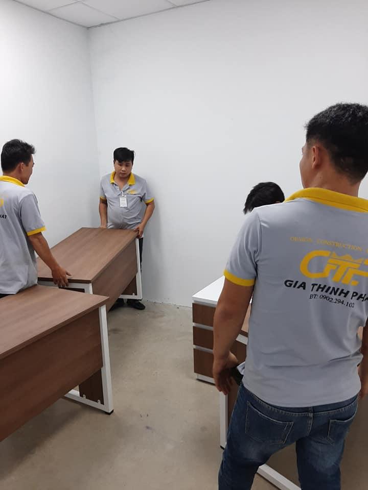thi công văn phòng công ty may mặc Sai Gòn 3