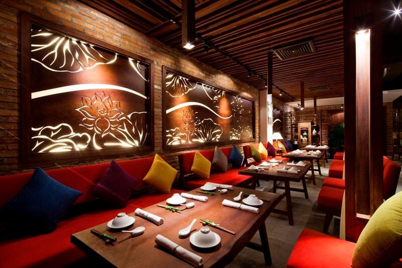 Thi công không gian nhà hàng ăn uống rất đẹp